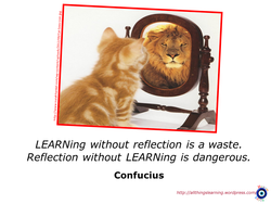 LEARNing without reflection is a waste. 
