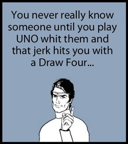You never really know 