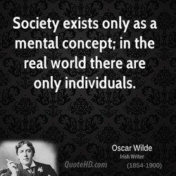 Society exists only as a 