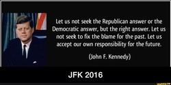 Let us not seek the Republican answer or the 