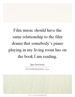 Film music should have the 