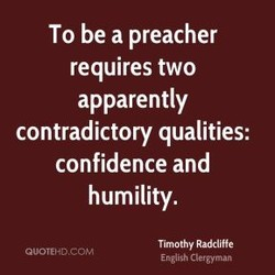 To be a preacher 