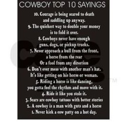 COWBOY TOP 10 SAYINGS 