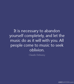 It is necessary to abandon 