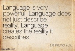 Language is very 