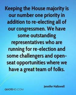 Keeping the House majority is 