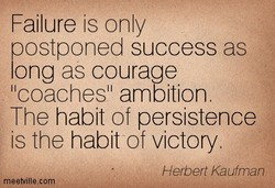 Failure is only 