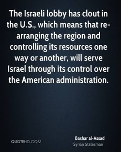 The Israeli lobby has clout in 