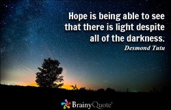 Hope is being able to see 