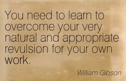 You need to learn to 