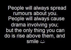 People will always spread 
