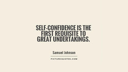 SELF-CONFIDENCE IS THE 