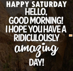 HAPPY SATURDAY 