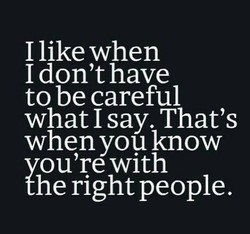 I like when 