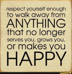 respect yourself enough 