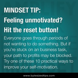 MINDSET TIP: 