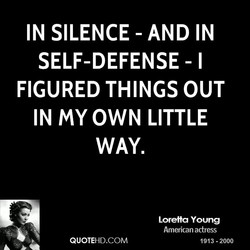 IN SILENCE - AND IN 