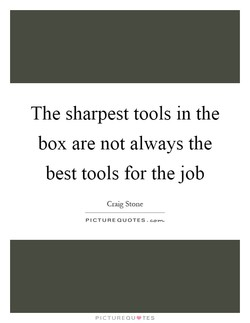 The sharpest tools in the 