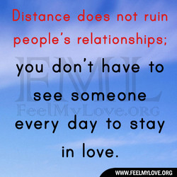 Distance does not ruin 