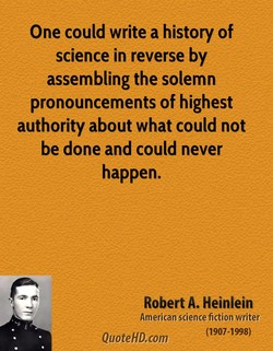 One could write a history of 