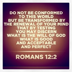 DO NOT BE CONFORMED 