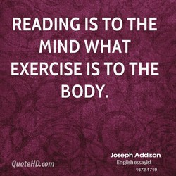 READING IS TO THE 