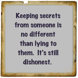 Keeping secrets 