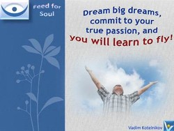 Feed for soul Dream big dreams, commit to your true passion, and You Will learn to fly!