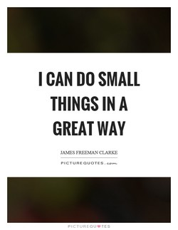 I CAN DO SMALL 