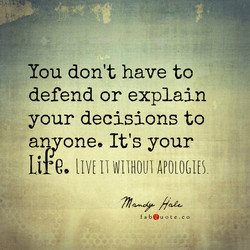 You don't have to 