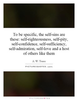 To be specific, the self-sins are 
