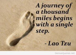 A journey of 