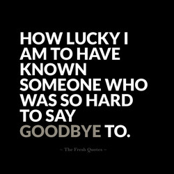 HOW LUCKY I 