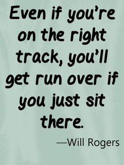 Even jf you're 