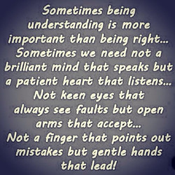 Sometimes being