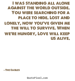 I WAS STANDING ALL ALONE 