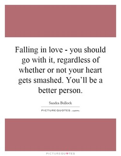 Falling in love - you should 