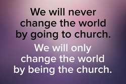 We will never 