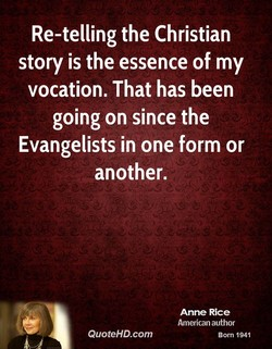 Re-telling the Christian 