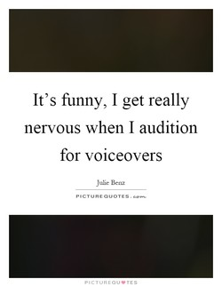 It's funny, I get really 