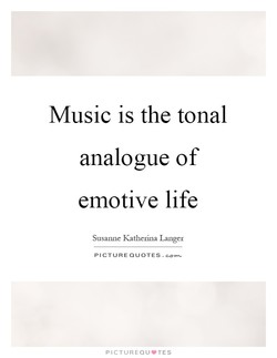 Music is the tonal 