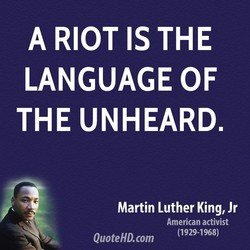 A RIOT IS THE 