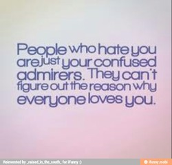 People who hateuou 