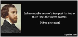Each memorable verse of a true poet has two or 
