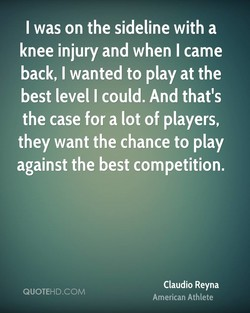 I was on the sideline with a 