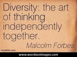 Diversity, the art 