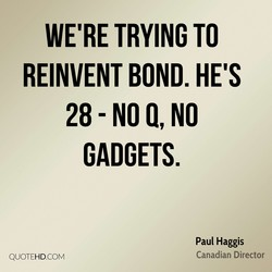 WE'RE TRYING TO 