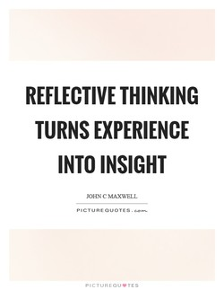 REFLECTIVE THINKING 