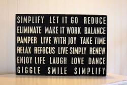 SIMPLIFY LET IT GO REDUCE 
