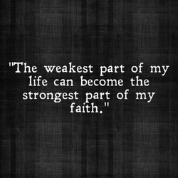 'The weakest part of my 